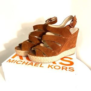 KORS Suede Wedges, size 10M